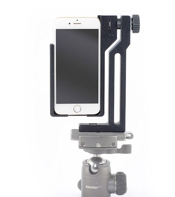 Nodalpunkt-Smartphone-Adapter mit Kugelkopf
