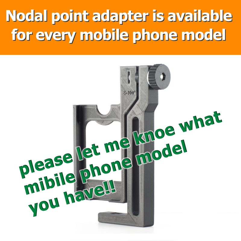 Nodal point adapter is available for every mobile phone model