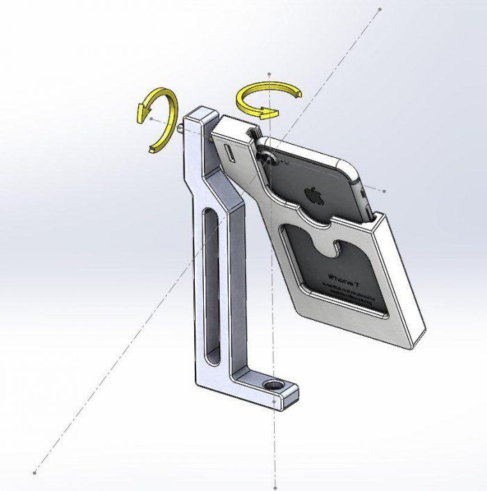 Nodalpunktadapter für Smartphone