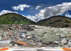 Bach Ötztal - panorama 360 grad